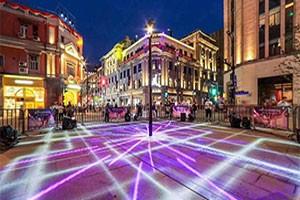南京路步行街东拓亮灯仪式